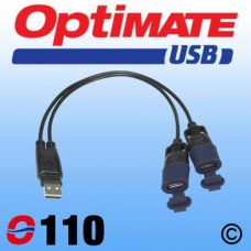 O110 USB 2:1 Y-SPLITTER